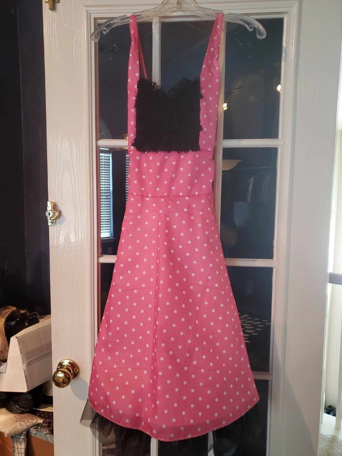Girls Pink Polka Dot Costume Size M