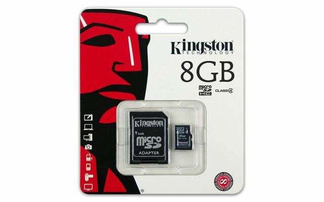 Classe 4 Kingston 8GB Micro SD Flash Carte Mémoire Pour Nikon Canon sony