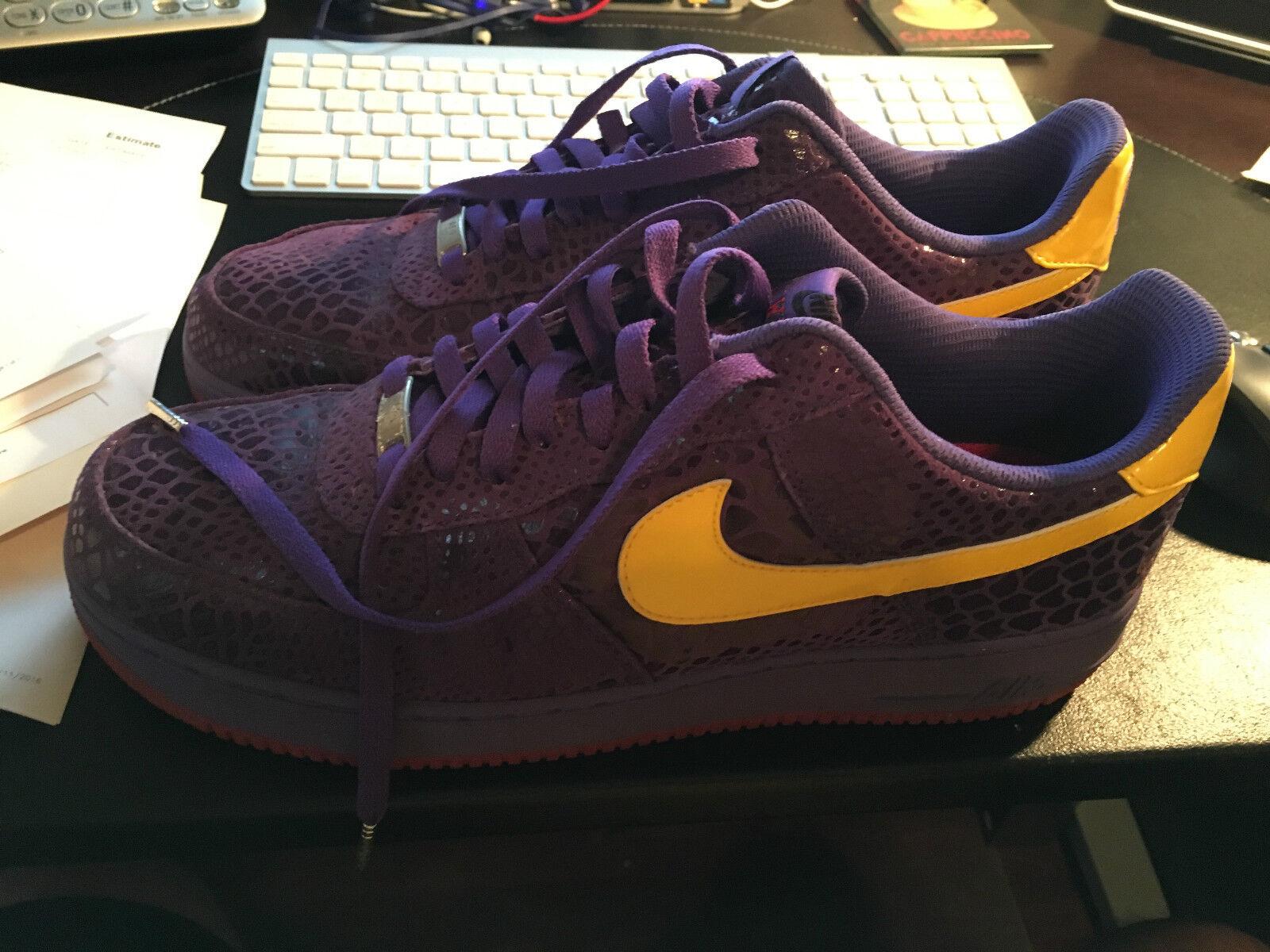 Eddie Cruz Nike Air Force 1 Supreme West Coast 0,44 marca Sticky Rubber Kobe Lakers marca 0,44 de descuento 254c9a