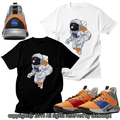 CUSTOM T SHIRT matching STYLE OF PG 3 NASA Nike PG 1-4-12