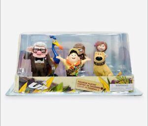 Disney Store Pixar UP 6Piece Figure Playset Carl Ellie Russel Dug Kevin NIB