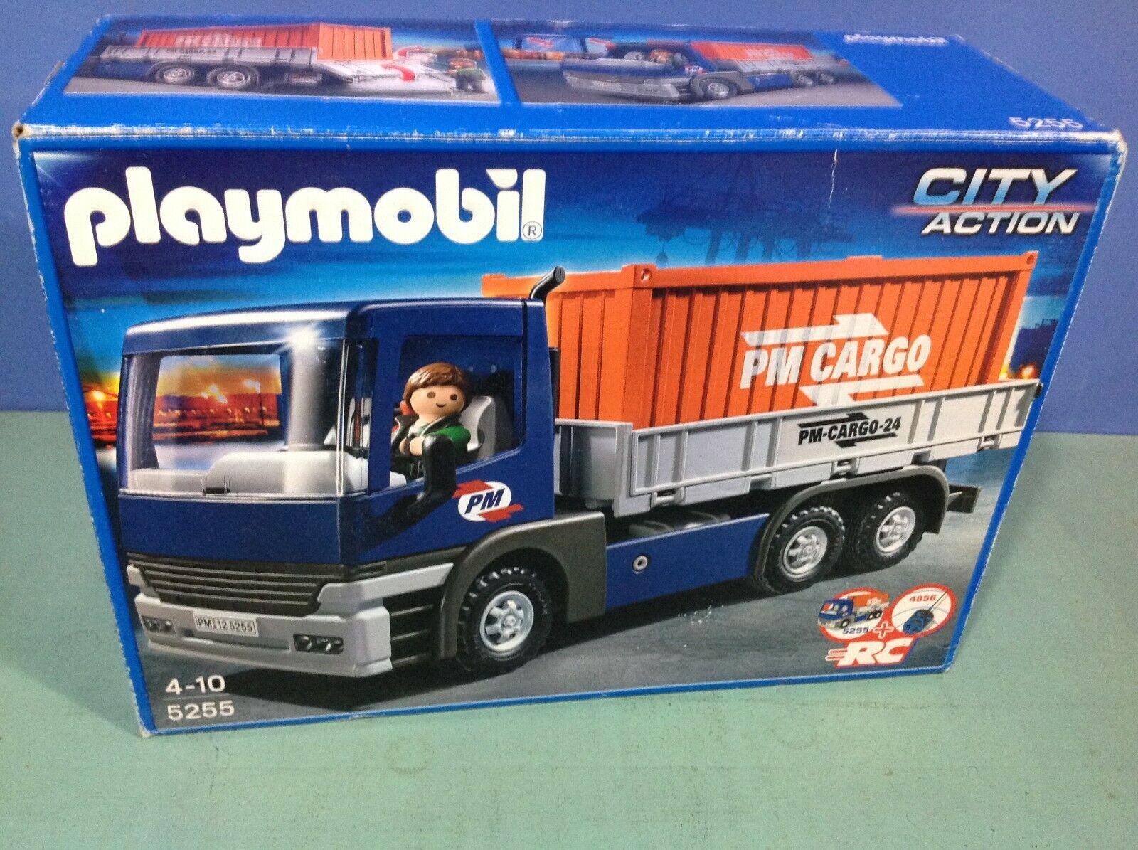 (O5255) playmobil Camion porte contener complet en boite