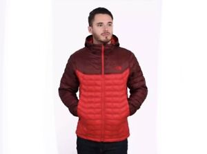Details about Men's The North Face Thermoball Hoodie Full Zip Jacket Sequoia Red Medium