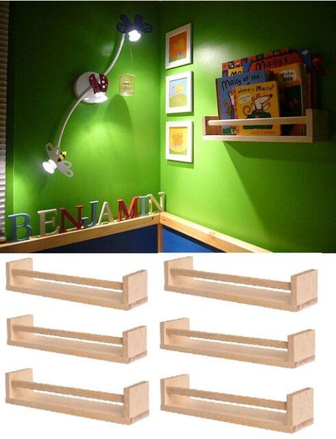 IKEA 6 wooden spice rack nursery book holder bath kitchen storage shelf BEKVAM