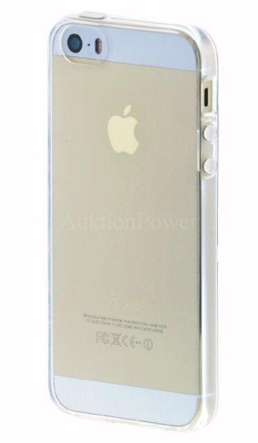 iPhone 5 5S Schutzhülle Silikon Case Cover Transparent Extra Clear +BONUS