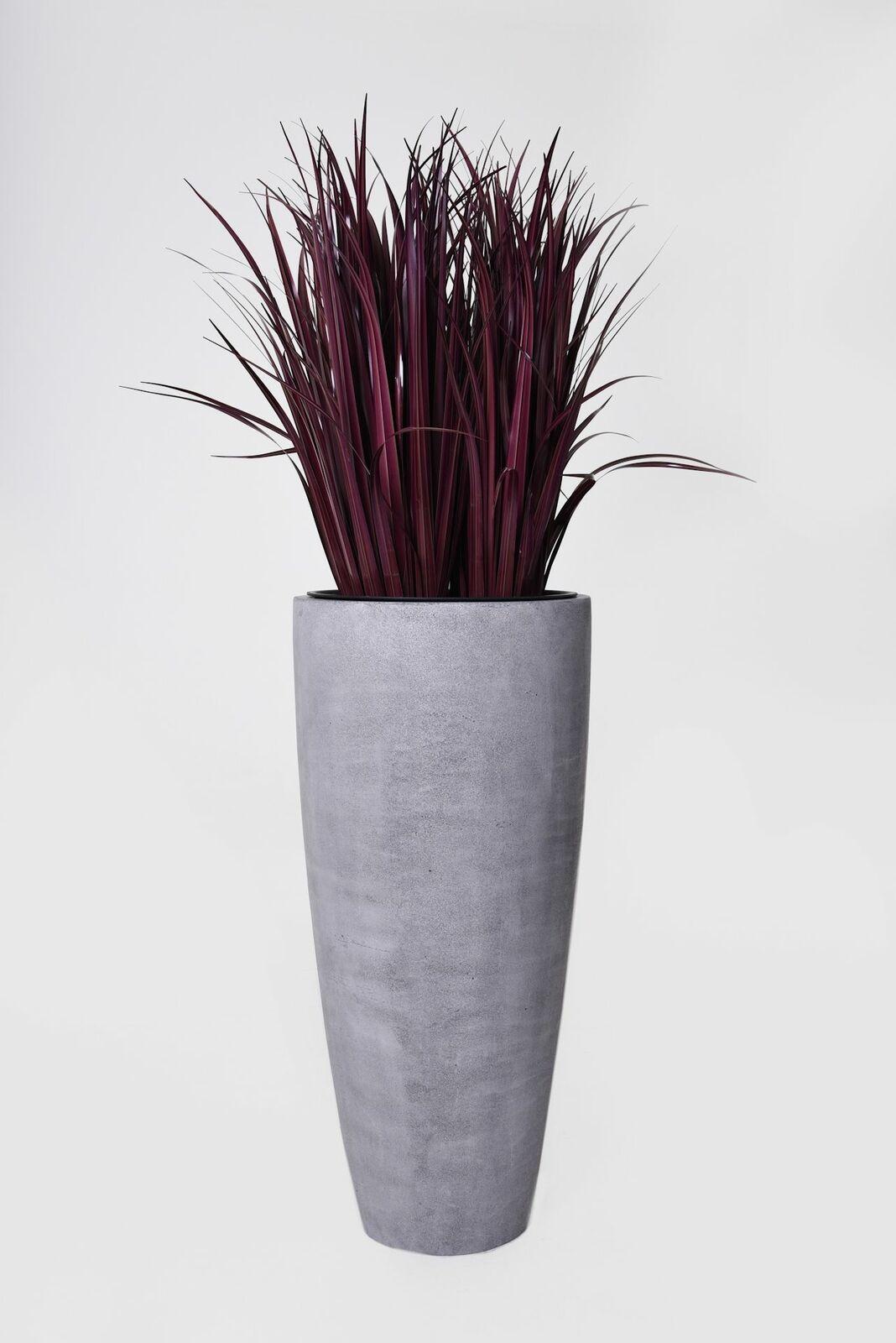 Tiesto para plantas tiesto  city  de fibra de vidrio, 100 CM, hormigón-Design gris