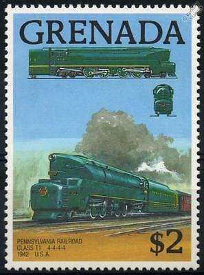 PENNSYLVANIA RAILROAD Class T1 4-4-4-4 (1942) Grenada Train Stamp 1989