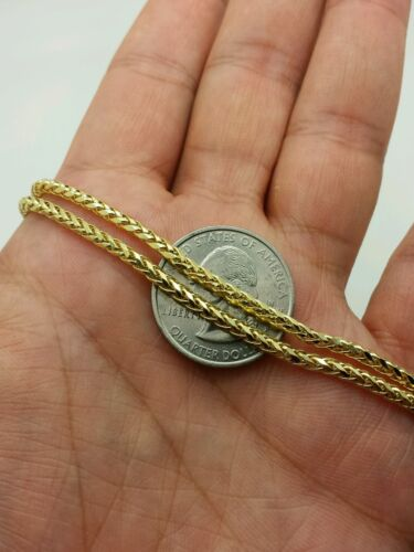 """14k Yellow Gold Round Diamond Cut Franco Chain Necklace 18/"""" 20/"""" 24/"""" 2.7mm"""
