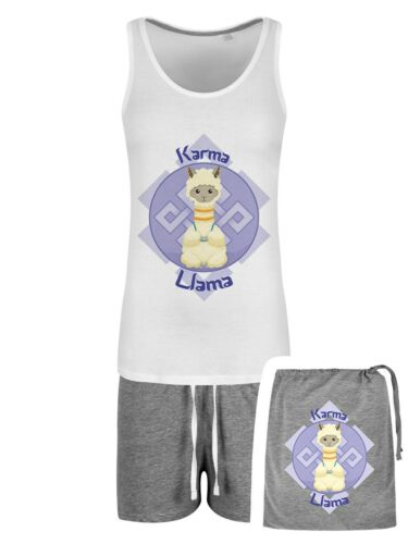 Pyjama Set Karma LLama Short In A Bag Women/'s White