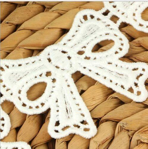 NEW 6Y Kleidung Zubehör Milch Seide Bow Spitze Dekoration Handwerk