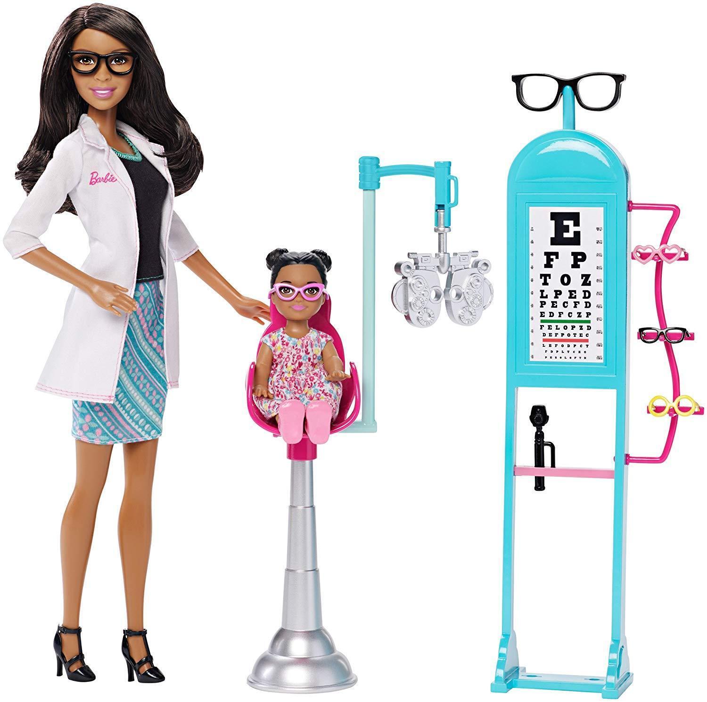 Barbie carreras oculista opthamologist Muñeca Barbie CKJ73 African American AA
