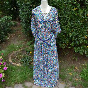 Robe Longue Femme Style Boho Vintage Pois Vert Taille 48 Lasagrada Zaza2cats Ebay
