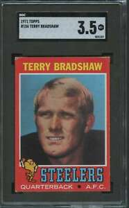 1971 TOPPS ROOKIE TERRY BRADSHAW RC SGC 3.5