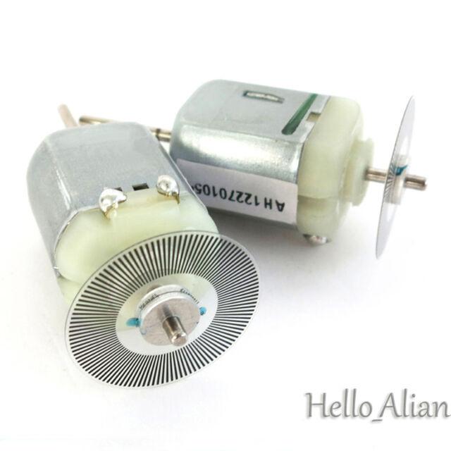 2pcs DC 3V 6V Mini 130 Motor Long shaft  Code disk For DIY Measure Speed Encoder