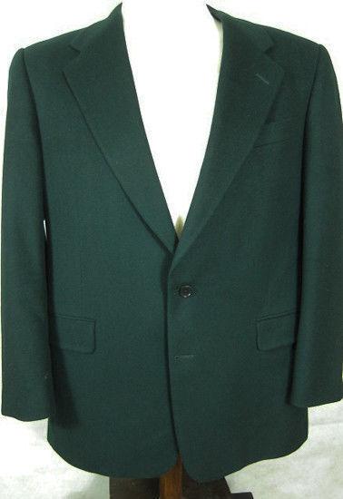 GORGEOUS Bobby Jones 100% Heavy Cashmere Dark Grün Blazer Sport Coat 43R USA