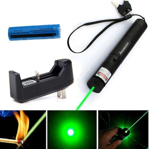 500Mile Strong Light Green 1mw Laser Pointer Pen 532nm Astronomy Lazer+Batt+Char