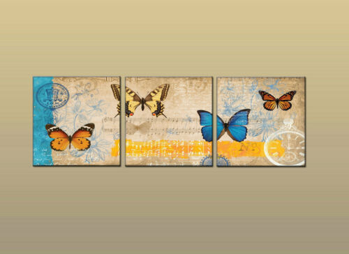 Modern Art print oil painting Canvas Decorative painting butterfly Framed WK42