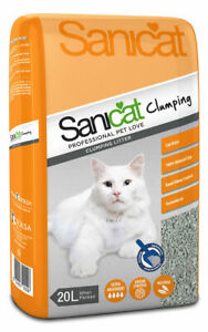 SANICAT-Clumping-Cat-Litter-Highly-Absorbent-20-Litre-Orange-FREE-P-amp-P