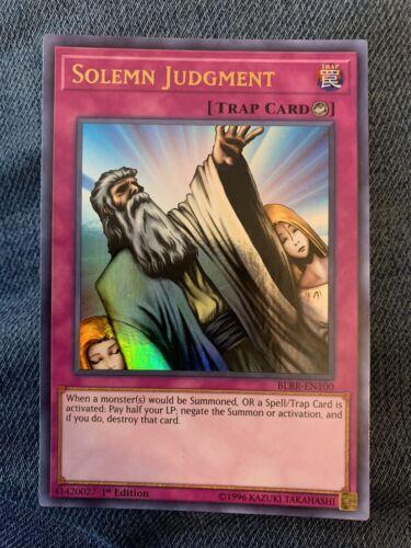 SOLEMN JUDGMENT BLRR-EN100 NM Ultra Rare 1x Yu-Gi-Oh 1st Edition