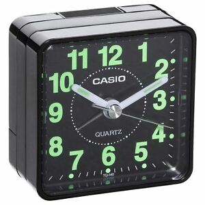 Reloj-despertador-Casio-tq-140-1-Cuarzo-Negro-Nuevo-PILA-AKALINA-INCLUIDA