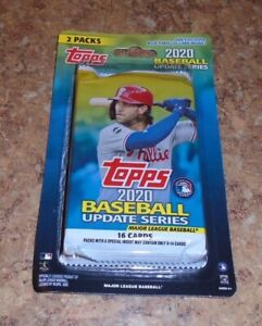 2020 TOPPS UPDATE BLISTER 2-PACKS W/ EXCLUSIVE ROYAL BLUE PARALLEL CARD! (BIN5)
