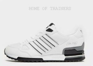 sports shoes 5980e f9bd6 Details about Adidas ZX 750 White Black Grey Men's Trainers All Sizes  Limited Stock