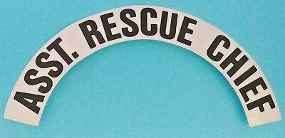 A PAIR RESCUE Helmet Decals RESCUE Reflective Fire Helmet Crescent Decals
