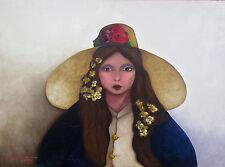 Cuban Artist Painter, Tomas Fundora, Original Acrylic on Canvas