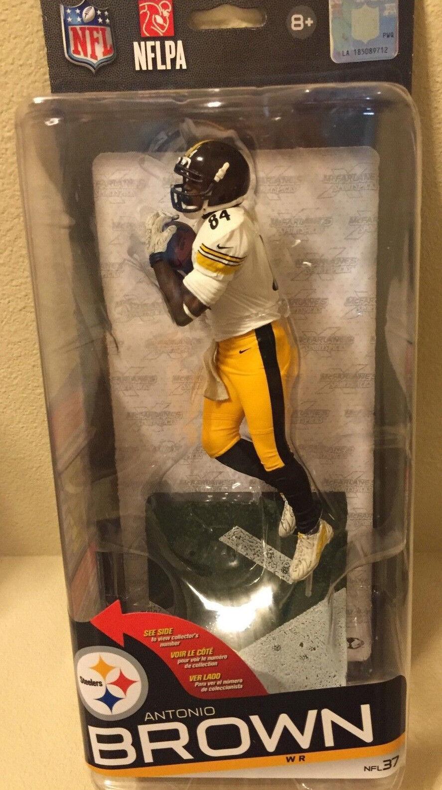 ANTONIO braun Steelers McFarlane NFL 37 FACTORY SEALED Figurine Weiß Jersey NIB