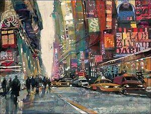 Patti Mollica: New York Collage II Barella-Immagine Schermo Città | eBay