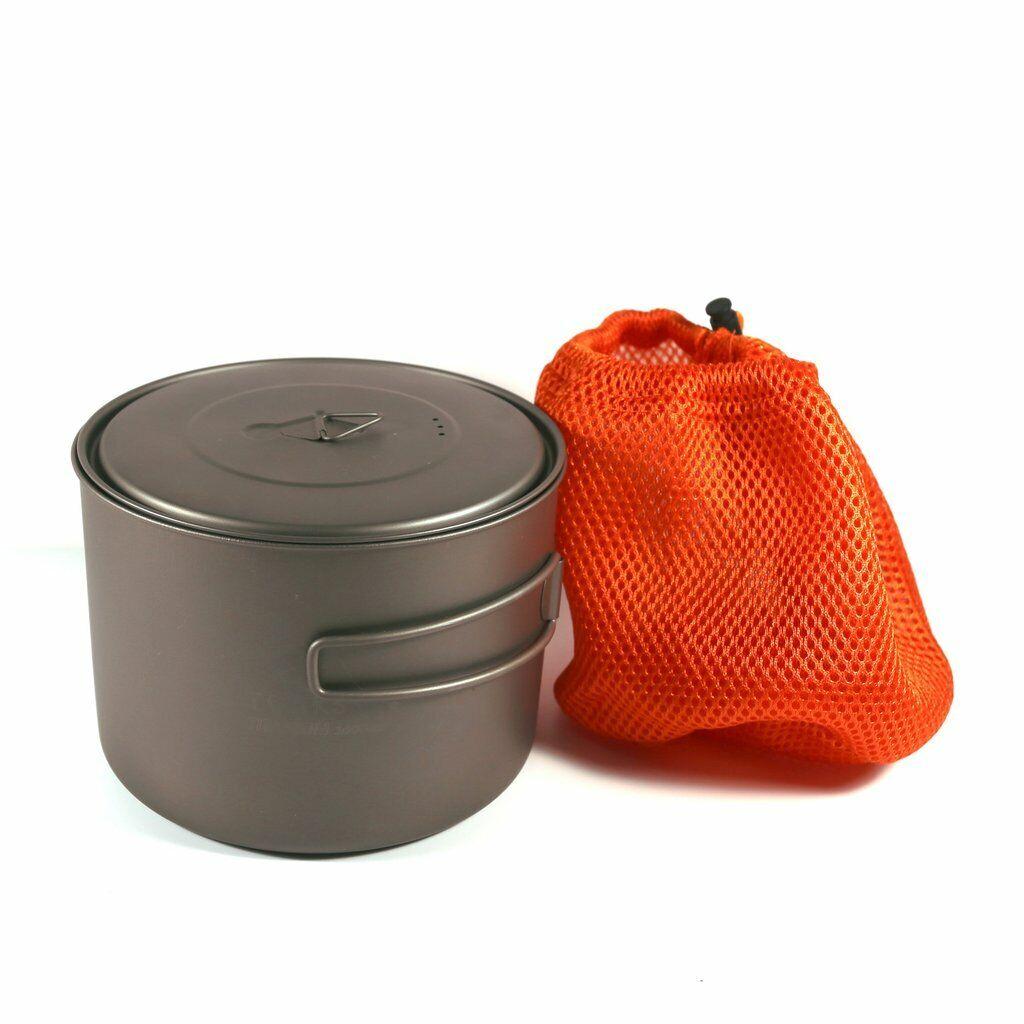 TOAKS Titanium 1600  Pot Cookware Outdoor Camping  Cooking Fire Hot  high quality