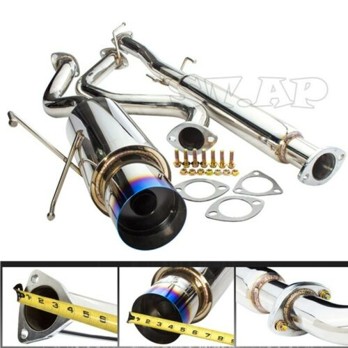 "94-01 Acura Integra Dc2 Gsr Bolt-On Catback Exhaust Syste 4.5/"" Muffler Burnt Tip"