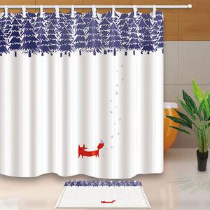 Image Is Loading Cartoon Fox Shower Curtain Bedroom Decor Waterproof Fabric
