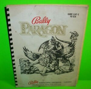 Paragon-ORIGINAL-Bally-Pinball-Machine-Game-Manual-With-Schematic-Diagrams-1979