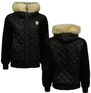 59c7785a1 Details about Adidas Originals Quilted Padded Womens Hooded Bomber Jacket  Coat AY4772 OPM1