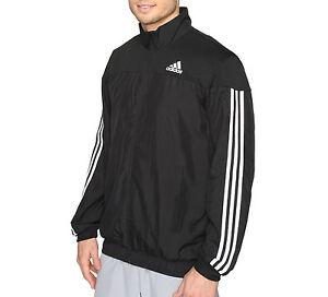 Hombre Abrigo Negro Chaqueta Deportivo Para Performance De Adidas FZwqX