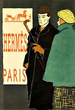 Art Ad Hermes Paris Fashions  Haute Couture Fashion  Chic Deco   Poster Print