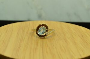 10K-YELLOW-GOLD-OVAL-AQUAMARINE-SOLITAIRE-RING-BAND-W-DIAMOND-ACCENT-SIZE-6-25