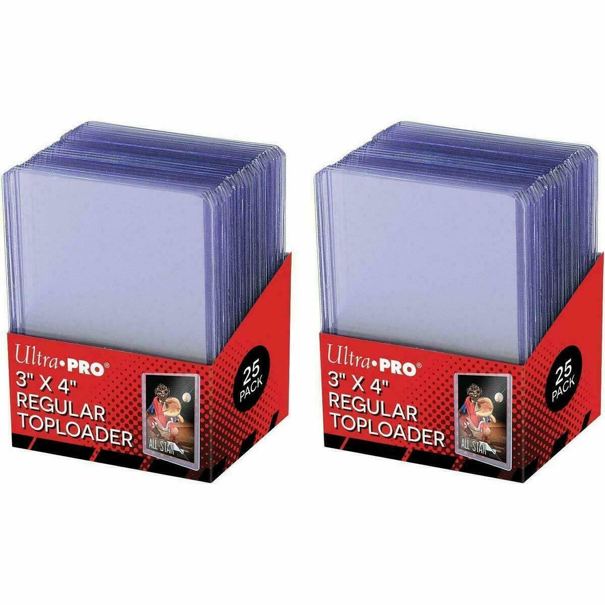 50 BCW Topload Rigid 3X4 Hard Plastic Toploader Storage Holder Trading Cards