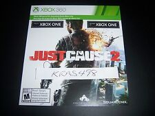 JUST CAUSE 2 XBOX 360 OR XBOX ONE 1 DOWNLOAD CARD FULL GAME DLC
