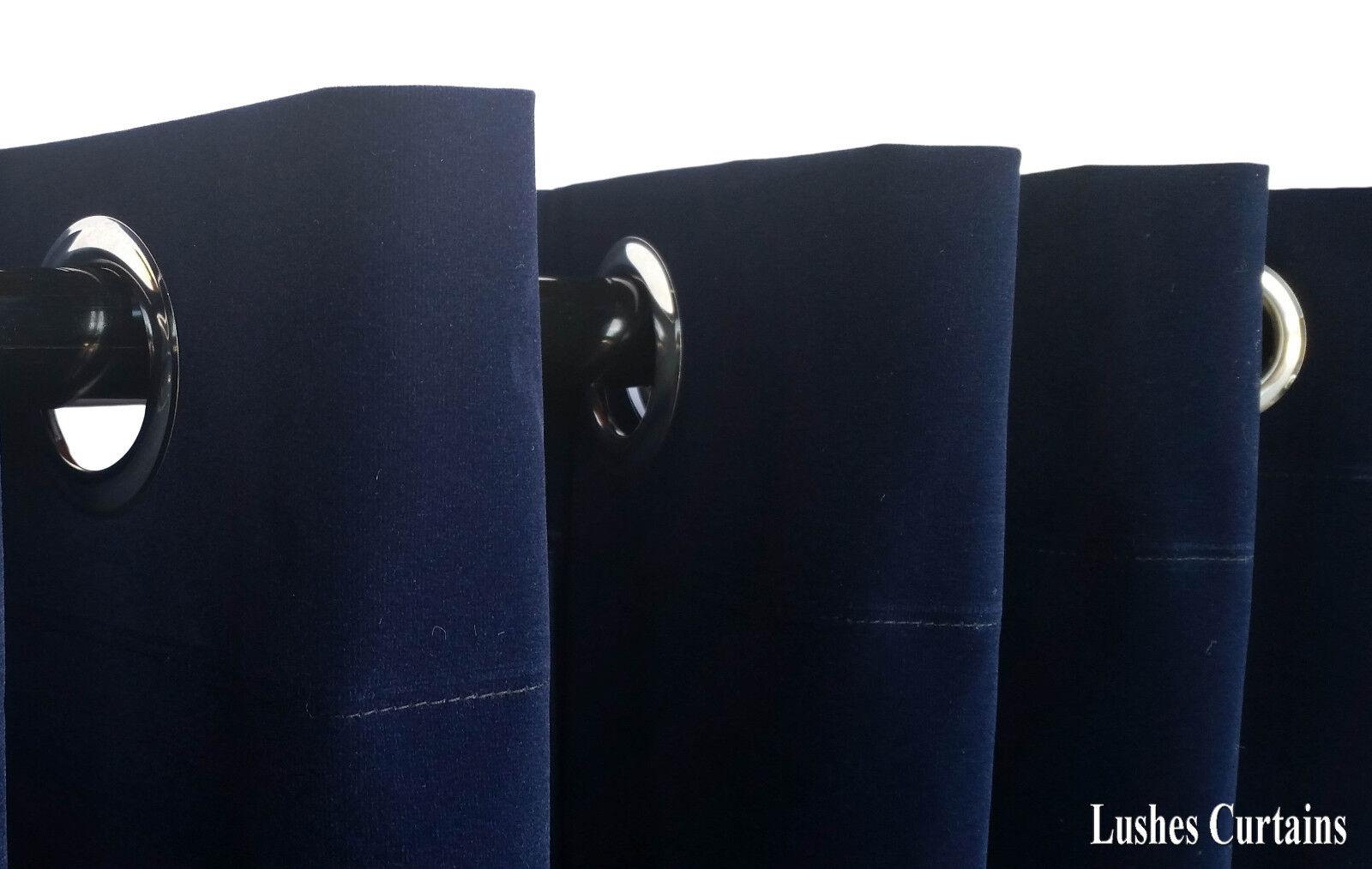 Solid Marineblau 27.9cmh Samt Vorhang Vorhang Vorhang TAFELL M   dichtkörper oberen Ösen Fenster 54c3e7
