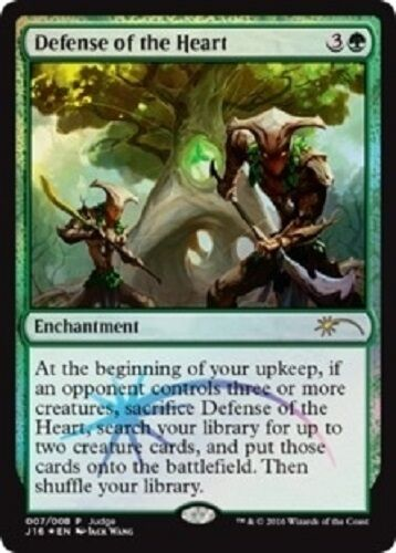 Défense du coeur de la forêt PREMIUM FOIL Defense of the Heart JUDGE Magic Mtg
