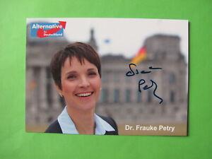 Autogrammkarte - Dr. Frauke Petry - ehemalig AFD - orig. autograph
