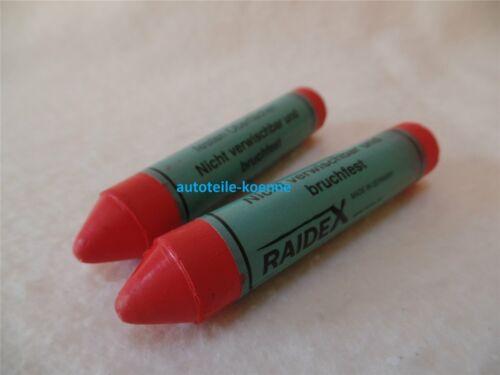 2x SISA rot Reifen Beschriftung Kreide Marker Reifenkreide Fettkreide Fettstift