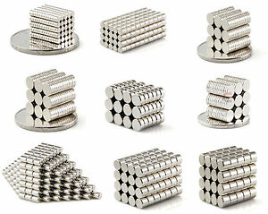 50-1000PC Tiny neodymium disc magnets 2mm 3mm 4mm 5mm 6mm N50 small strong craft