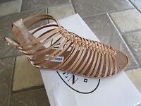 Steve Madden Kaster Cognac Tan Gladiator Sandals Womens 6 Free Shipping