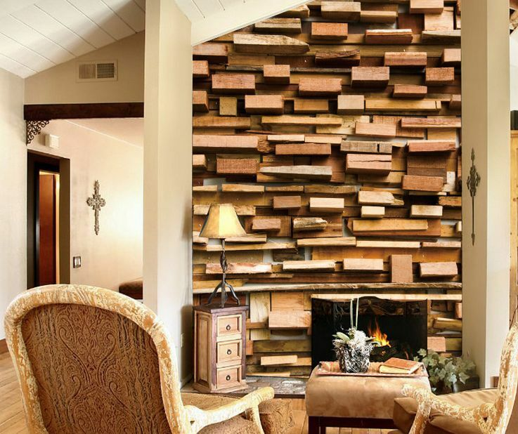 3D 3D 3D Mixed Wood Stereo Wall Paper Wall Print Decal Wall Deco Indoor Murals 64cb13
