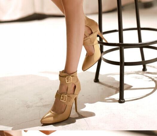 Sandalias botines verano mujer talón tacón de aguja 10,5 disp cm 8200