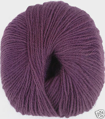 Yarn Place 100% Wool 5 skeins Yards Fingering EGGPLANT 2230