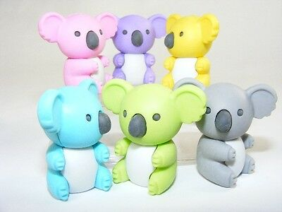 Iwako Aussie Animals - Bright Colours Koala Bear Japanese Kawaii Puzzle Eraser
